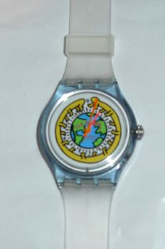 Keith Haring (after) - Swatch Milles Pattes