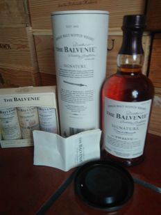 Balvenie Signature Twelve + 3 miniatures (Double Wood 12, Founders Reserve & 15 Single Barrel)
