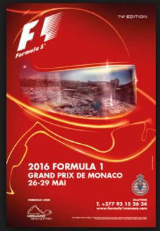 Set of 4 posters from Formula 1 - Monaco 2016 / Hockenheim 2002 / Magny-cours 2001 & 1998