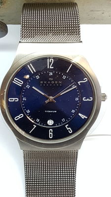 Skagen watch, 233xlttn, men's wristwatch – 21st century, no reserve