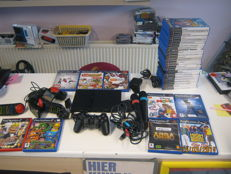 Sony ps2 incl 33 games among other things singstar and games ,Buzzers and games ,eye toy and games.