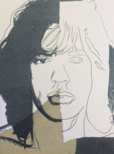Mick Jagger (after) Andy