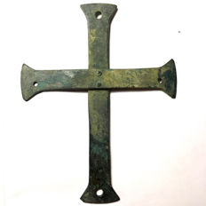 Early Byzantine Processional Bronze Cross - 175mm / 135mm