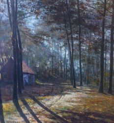 Frans Van Genesen (1887-1945) - wood of la Cambre