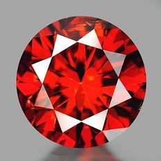 0.18 cts.  brilliant cut diamond Sparkling Red SI1
