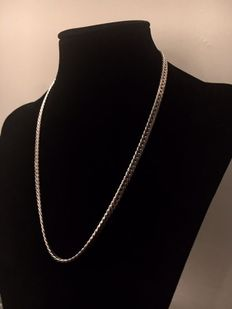 Solid silver chain necklace