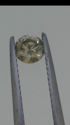 Natural fancy brown Diamond round  brilliant 0,46 carats