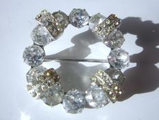 A brooch by Andreas Weiß with glittering stones - 1950s, USA!