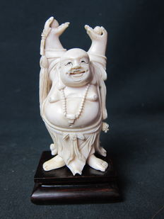 Ivory happy Buddha statue – China – circa 1920