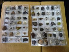 Collection of 67 Micromount Mineral Specimens  - 1,4kg (67)