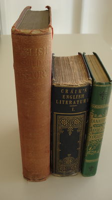 A lot of three books-Literature and Learning in England, Maners of Modern Society and English Constitutional History-1884/1911
