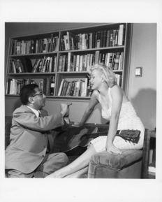 Bob Beerman - Marilyn Monroe and Sidney Skolsky - Hollywood - 1956
