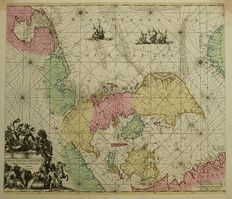 Denmark, Northern part of Holland, Frisian islands; Louis Renard - Daniae, Frisia, Groningae et Orientalis Frisiae - ca. 1710