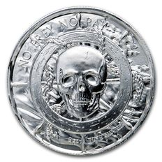 USA - 2 oz 999 silver - fine silver coin - The Captain Pirate - ultra high relief