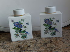Meissen porcelain - Tea caddy - 2 pieces.