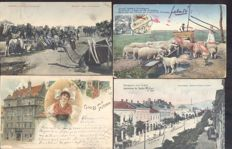 Eastern Europe 97x; old and very old village-and city views including picture postcards