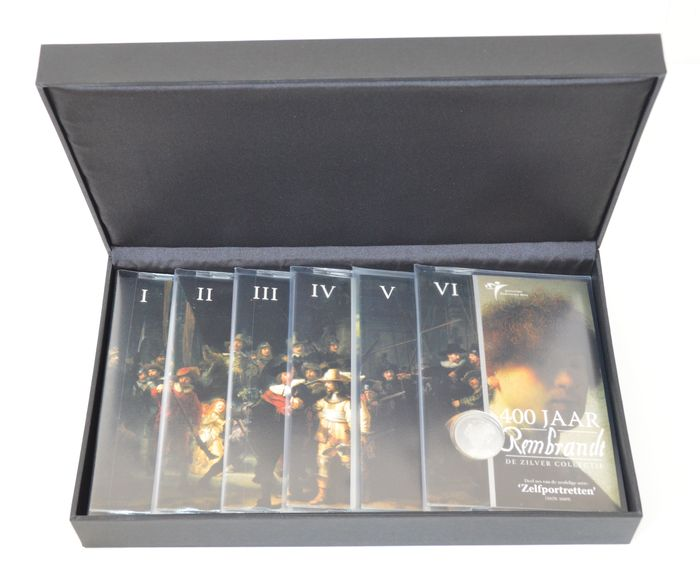 "The Netherlands – Year collection 2006 ""Silver collection 400 years Rembrandt"" part I to VI (6 pieces)"