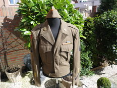 Very nice Ike Jacket and Garrison cap 1944.