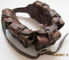 Leather cartridge belt sample 1910 Sweden.