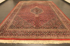 Distinguished hand-woven oriental carpet, Indo Bidjar Herati 240 x 350 cm, made in India at the end of the 20th century