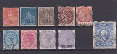 British Commonwealth 1858/1940 - Mauritius, Guyana, Nigeria , S. Afrika Company , Ceylon , S. Rhodesia and Straits Settlements - a small collection