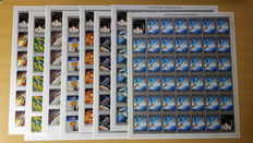 Rwanda 1970 - imperforated - Apollo 13 on the Moon - #OBP 384/391 in complete sheets of 40