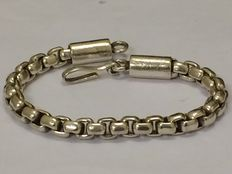Solid silver bracelet with Jasseron links