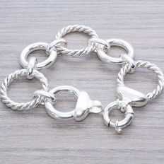 Italian design bracelet made of sterling silver