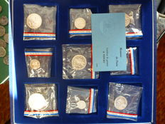France - Currency of Paris - 1981 Piefort Box of 11 coins - Silver