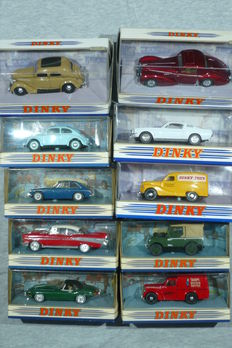 Matchbox-the Dinky Collection - Scale circa 1/43 - lot with 10 models