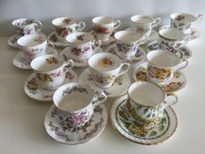 14 piece English cups & saucers