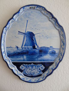 Tichelaar -  Plaque with a Dutch landscape