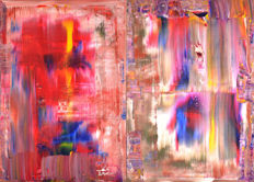 Dominik Smolik - Diptych-Abstractly Claude Monet 100x140cm