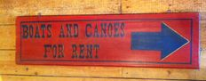 Wooden board, Boats & Canoes for rent