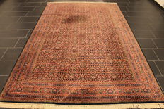 Oriental carpet, Indo Bidjar Herati, 200 x 310 cm, made in India at the end of the last century