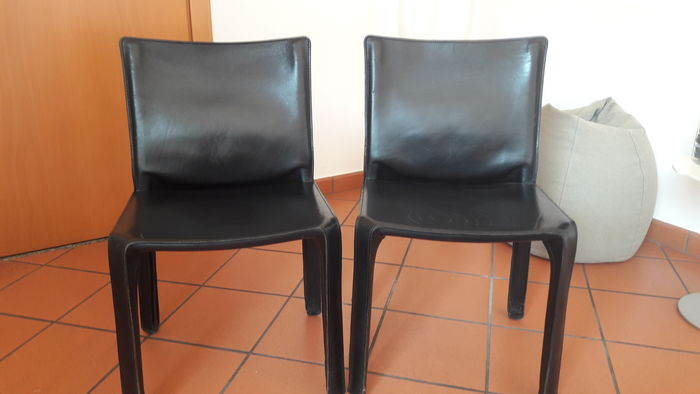 Mario Bellini For Cassina Cab 412 Chairs X 2 Catawiki