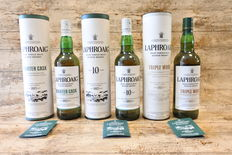 Laphroaig Trio - 10 YO - Quarter Cask - Triple Wood - 3 Bottles in original tubes