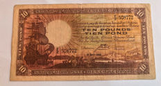 South Africa - 10 Pounds 1943 - Pick 87