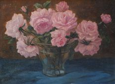 Attributed to H.A.  Ravenswaaij (1891-1972)-flower still life