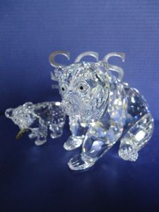 Swarovski - Grizzly Bear, large and small.