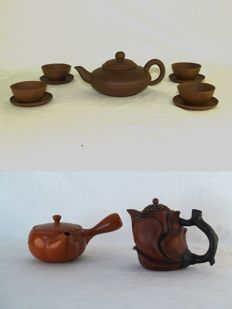 Teapots/cups and saucers, Yixing – China – second half of the 20th century