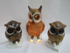 West-Germany - Perfume lamps - owls of porcelain