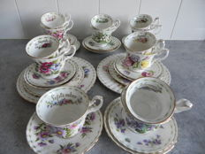 31 piece Royal Albert cups and saucers - Months