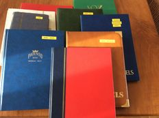 World – Batch in 10 stock books and on cards, including, among others, perfins, China, Israel, GDR or East Germany and CEPT.