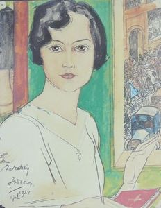 After Jan Toorop (1858-1928) - 'Isna Zaratsky - July 1927'