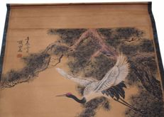 Hanging print reproduction of Qi Baishi's work - China - second half 20th