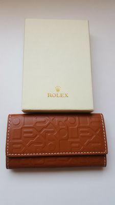 Rolex Brown Leather Key Holder