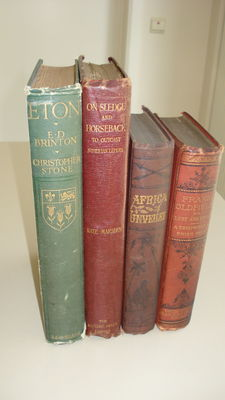 A lot with four illustrated books on travel - 1869/  1909