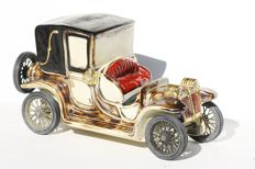 Porcelain Car, Porcelain Auto, RIP Vietata, Italian Car, Old Mobile Car, Lanchester Car, Ceramic Car
