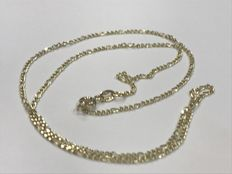 Cartier style gold necklace, no reserve